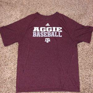 Aggie baseball adidas t shirt
